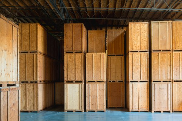 International storage services wooden containers