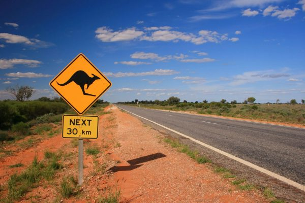 Australia - Road with Sign - 171316099