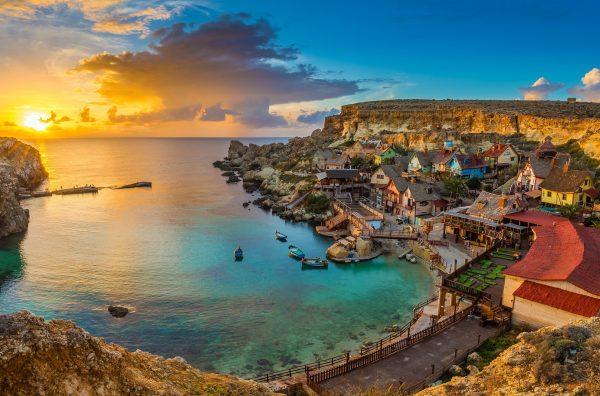 A bay in Malta