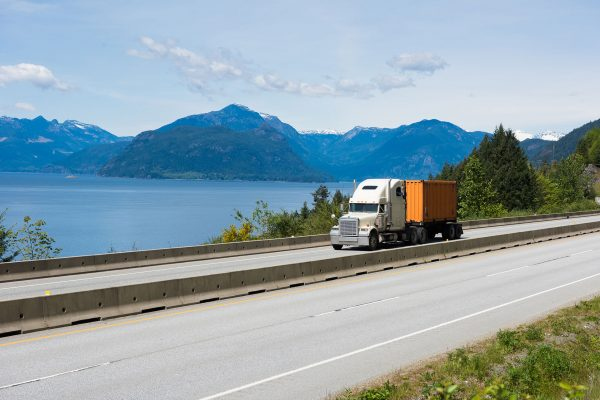 Canada---Truck-on-road---505136962
