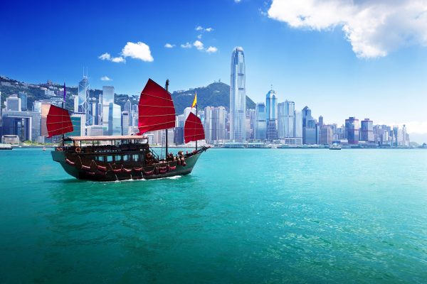 Hong-Kong---Dragon-Boat-in-port-by-day---483860839