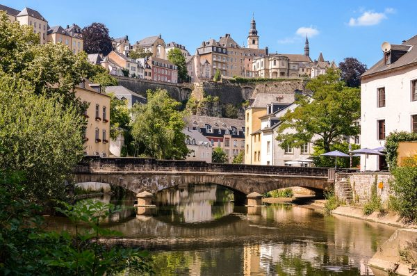 Luxembourg---Bridge-over-Alzette-River---183909539